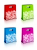 vector paper shopping bags with christmas snowflakes