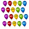 vector sale party balloons