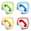 vector telephone receiver stickers