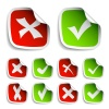 vector check mark stickers collection