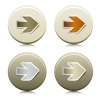 vector circle buttons with peeling arrow stickers
