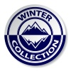 vector winter mountain sticker stamp