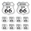 vector route 66 black and white stickers
