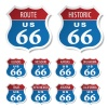 vector route 66 colored stickers