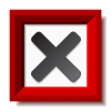 vector red negative checkmark