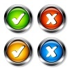 vector chrome checkmarks buttons
