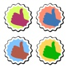 vector thumb up labels