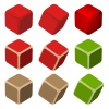 vector simple color cubes