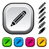 vector pencil icons and buttons
