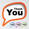 vector speech bubbles thank you