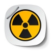 vector radiation symbol label