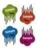 vector blank flowing speech bubble labels