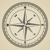 vector outline compass wind rose