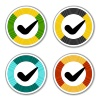 vector striped checkmark stickers