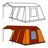 vector big old camping tent
