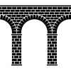 vector ancient seamless stone bridge viaduct aqueduct