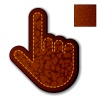 vector leather click hand cursor
