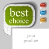 vector best choice textured speech bubble