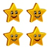 vector 3d golden smiling stars