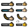vector thanks shake hand labels
