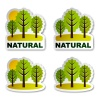 vector natural tree forest stickers