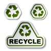 vector recycle green arrow stickers
