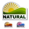 vector natural adventure nautical stickers