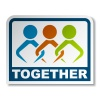 vector together joined people sticker