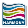 vector harmony abstract wave sticker