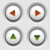 vector arrow white circle buttons