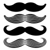 vector mustache vintage black icons