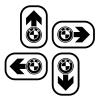 vector bmw spirit design navigation arrows