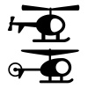 vector helicopter black symbols