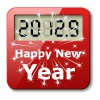 vector happy new year digital number icon