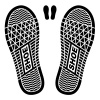 vector clean shoe imprints