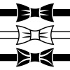 vector bow tie black symbols