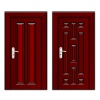 vector luxury mahogany wooden door