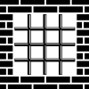 vector grate prison window black symbol