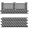 vector black decorative brick wall