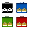 vector school bag icons