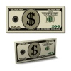 vector hundred dollar paper bill banknote