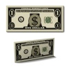 vector one dollar paper bill banknote