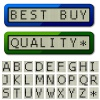 vector LCD display pixel font - uppercase characters