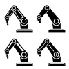 vector robotic arm black symbol
