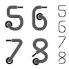 vector shoe lace numbers 5 6 7 8