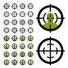 vector gun crosshair sight symbols