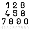 vector black simple font numbers