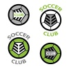 vector soccer club emblem ball shoelace