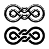 vector unity knot black white symbol