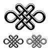 vector endless celtic knot black white symbol